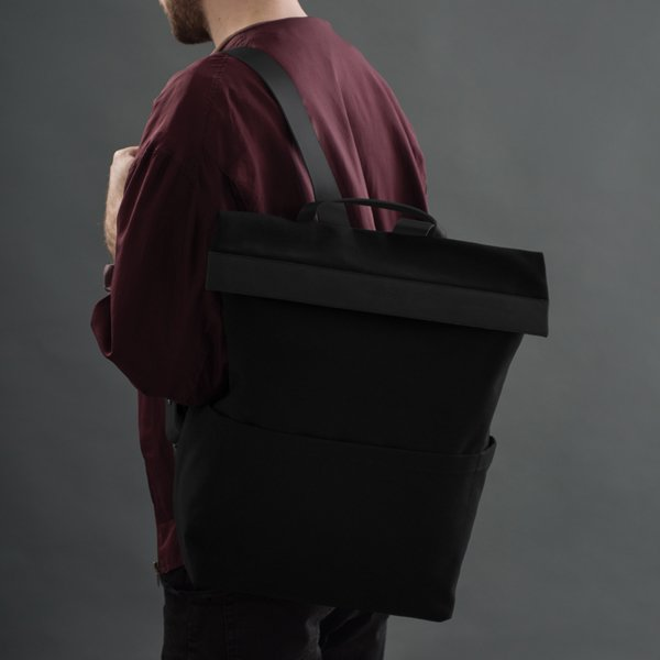 Large Cotton Zip Backpack