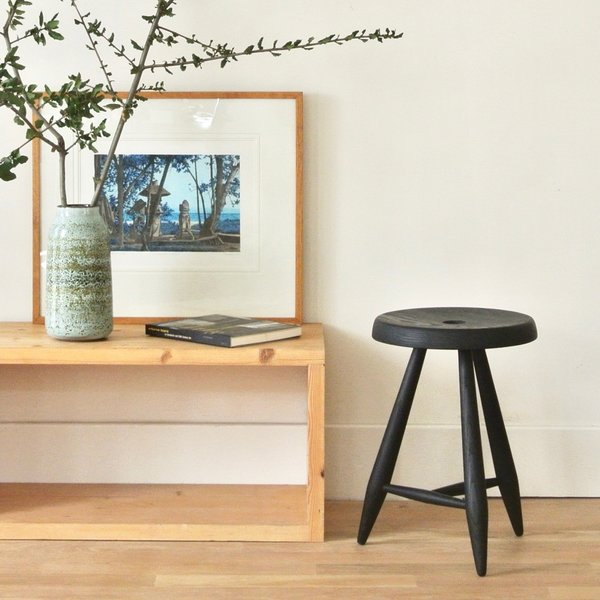 Pure Black Alpine Stool
