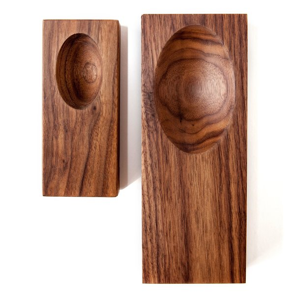 Solid Walnut Wood Scoop Tray