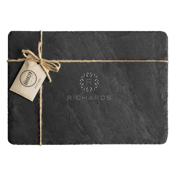 The Perennial Monogram Slate Cheese Board