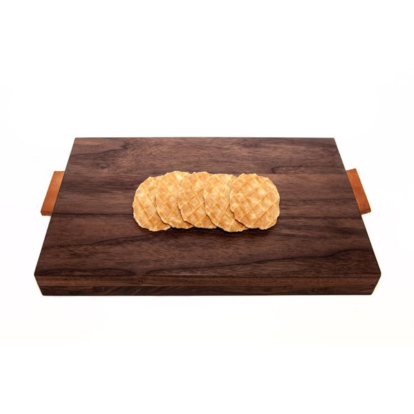 Walnut Wood & Leather Serving Board