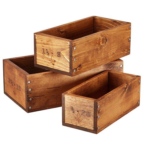 Wooden Shop Boxes (Set of 3)