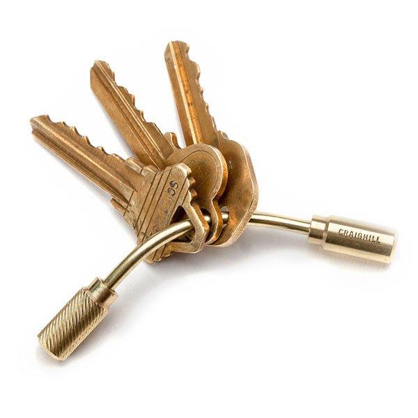 Brass Open Helix Keyring