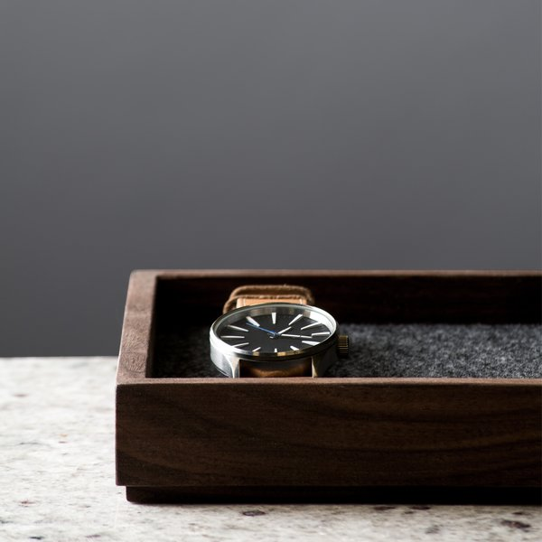 Wood & Felt Valet Tray