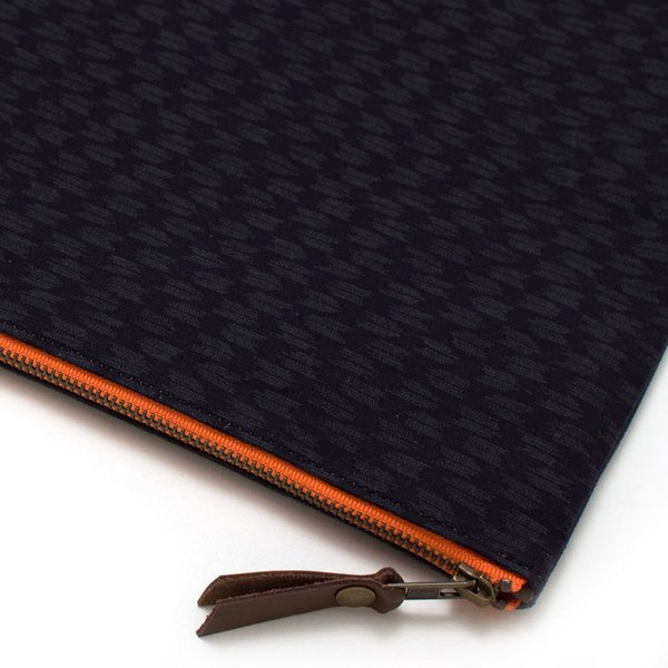 Japanese Ikat & Waxed Canvas Laptop Sleeve/ Carryall-Large