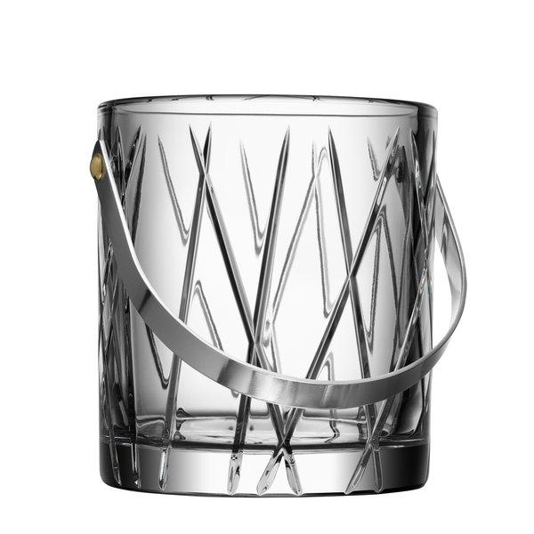 "Orrefors Crystal Ice Bucket ""City"""