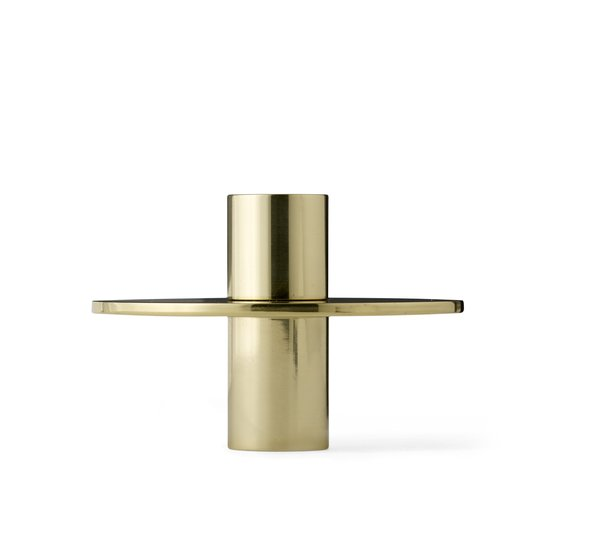 Antipode Brass Candle Holder