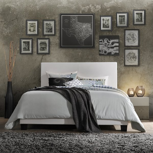 Lien PU Upholstered Panel Bed