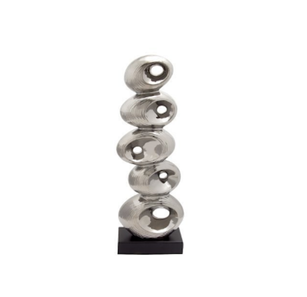 Silver Ceramic Abstract Figurine by Wade Logan