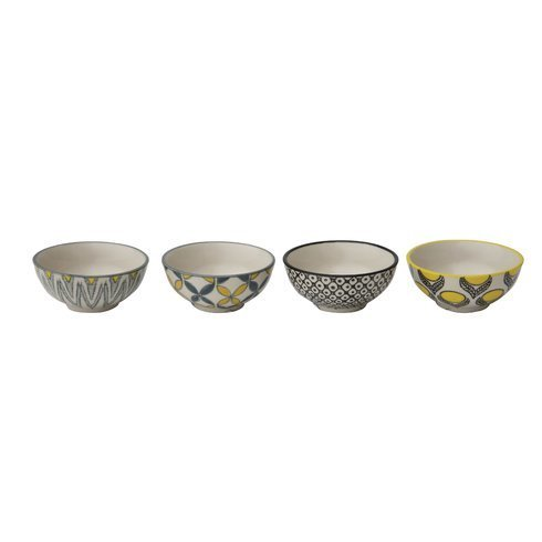 Patterned Hand-Stamped Bowls Set