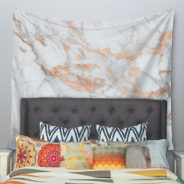 Rose Gold Flake Wall Tapestry