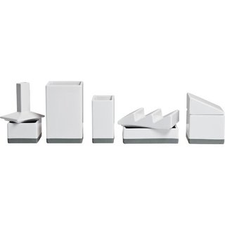 Desktructure the Warehouse 5 Piece Porcelain Desktop Organizer Set