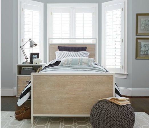 Natalie Driftwood/White Panel Bed