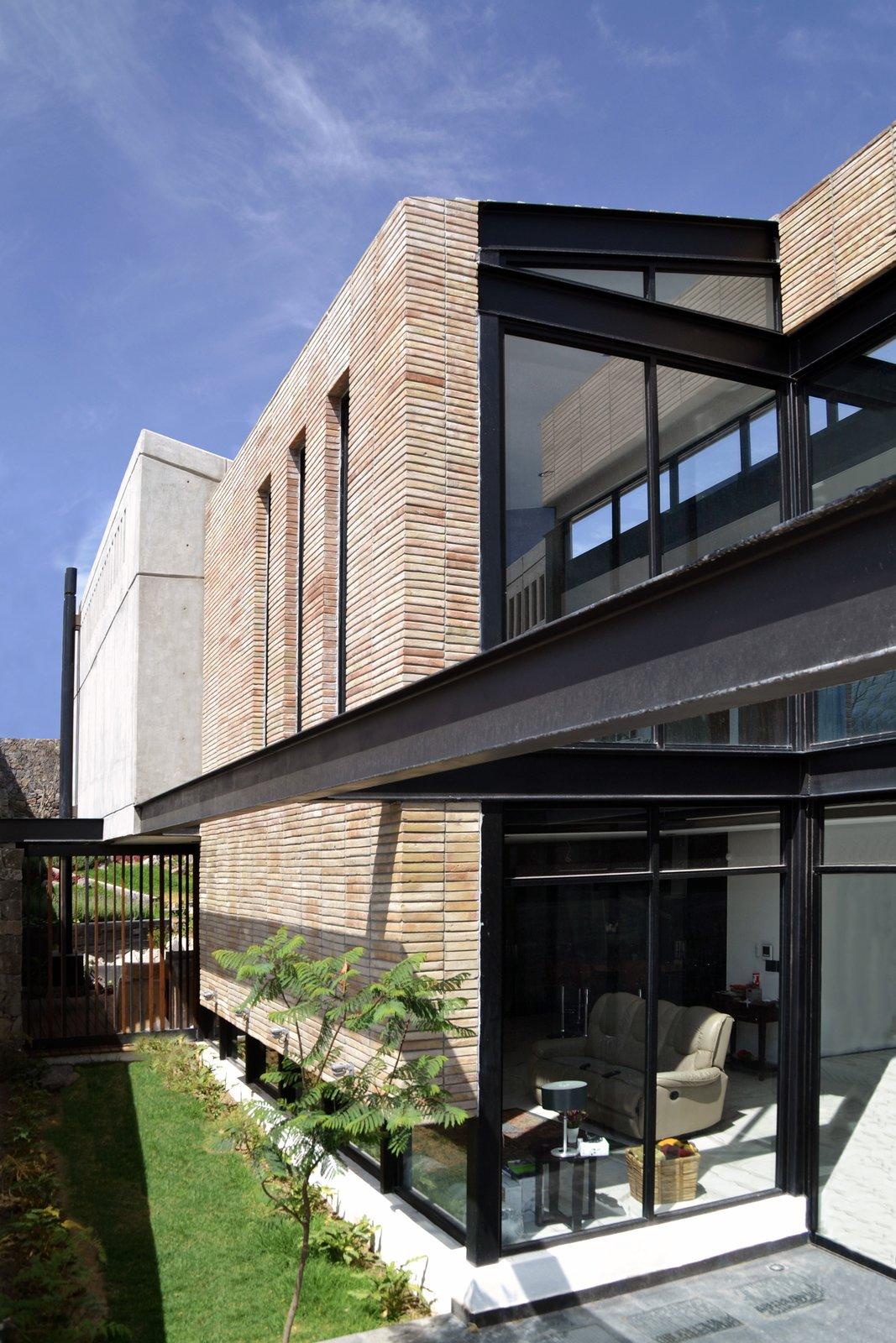 Detail - South Facade Tagged: Outdoor, Gardens, Stone Patio, Porch, Deck, Side Yard, and Garden.  Casa AB by e|arquitectos