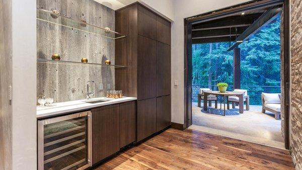 Modern home with doors, sliding door type, interior, and exterior. Wet Bar Photo 9 of Beaver Dam Luxury