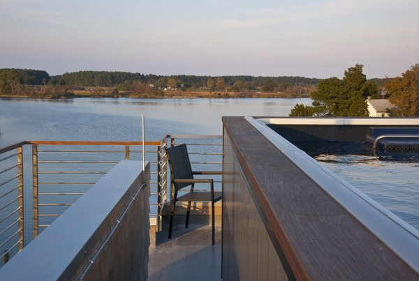 The pool is on the roof with a view of the water. Photo 6 of Chesapeake Bay House modern home