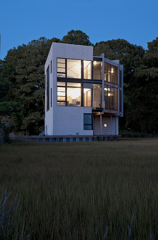Tagged: Exterior, Wood Siding Material, Metal Roof Material, and House.  Marsh House by McInturff Architects