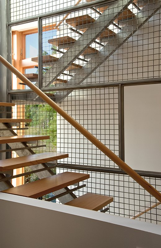 Tagged: Staircase, Wood Railing, Wood Tread, and Metal Railing.  Marsh House by McInturff Architects