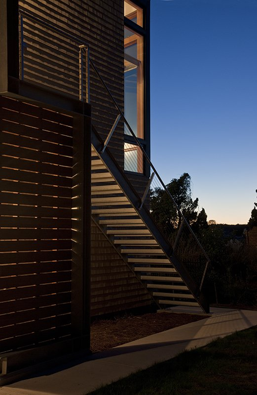 Tagged: Staircase, Metal Railing, Wood Tread, Wood Railing, and Cable Railing.  Marsh House by McInturff Architects