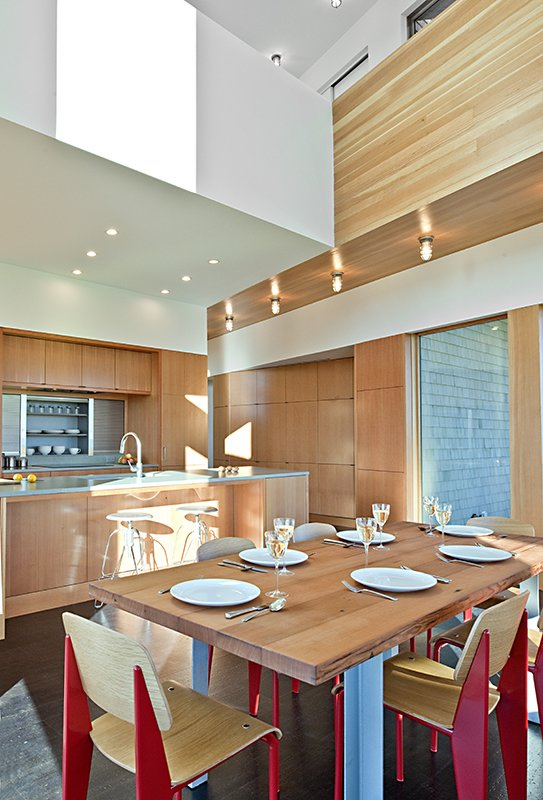 Tagged: Dining Room, Ceiling Lighting, Chair, Cork Floor, and Table.  Marsh House by McInturff Architects