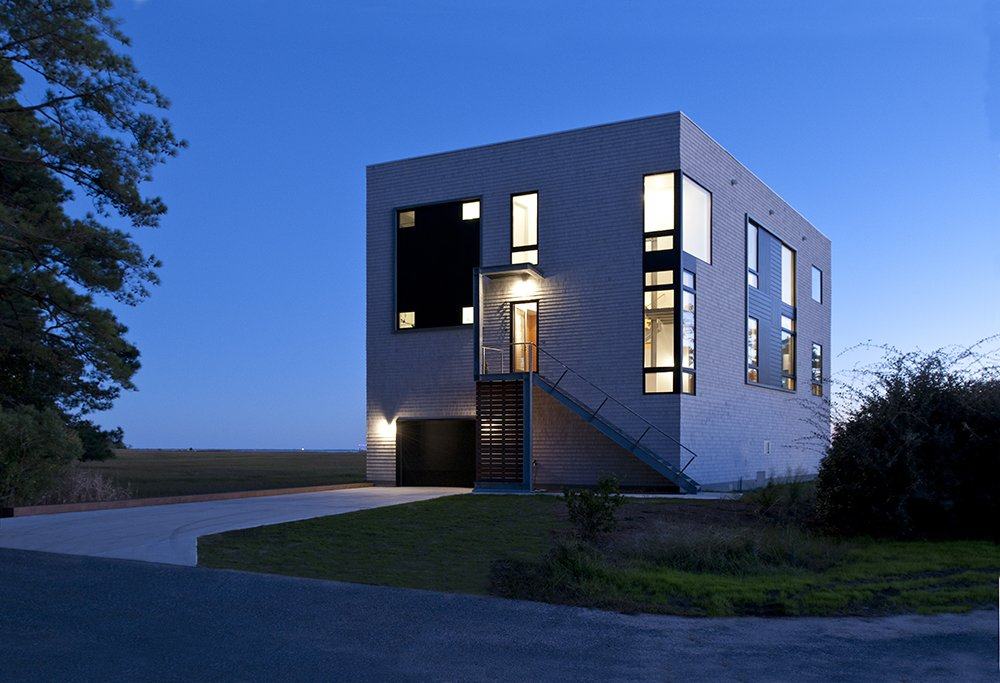 Tagged: Exterior, House, Metal Roof Material, and Wood Siding Material.  Marsh House by McInturff Architects