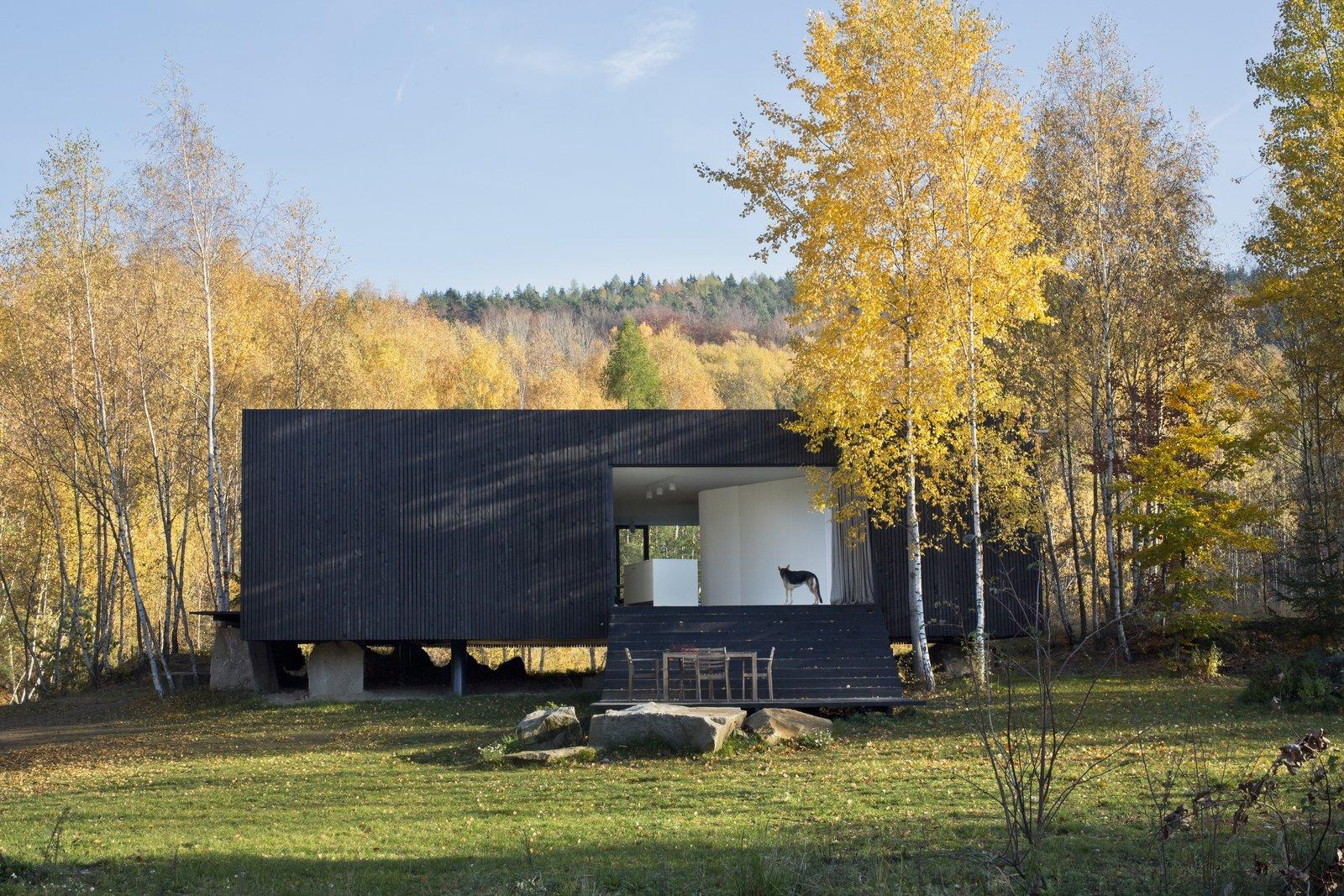 Tagged: Outdoor, Back Yard, Trees, and Grass.  Family House Prototype by Matej Šišolák