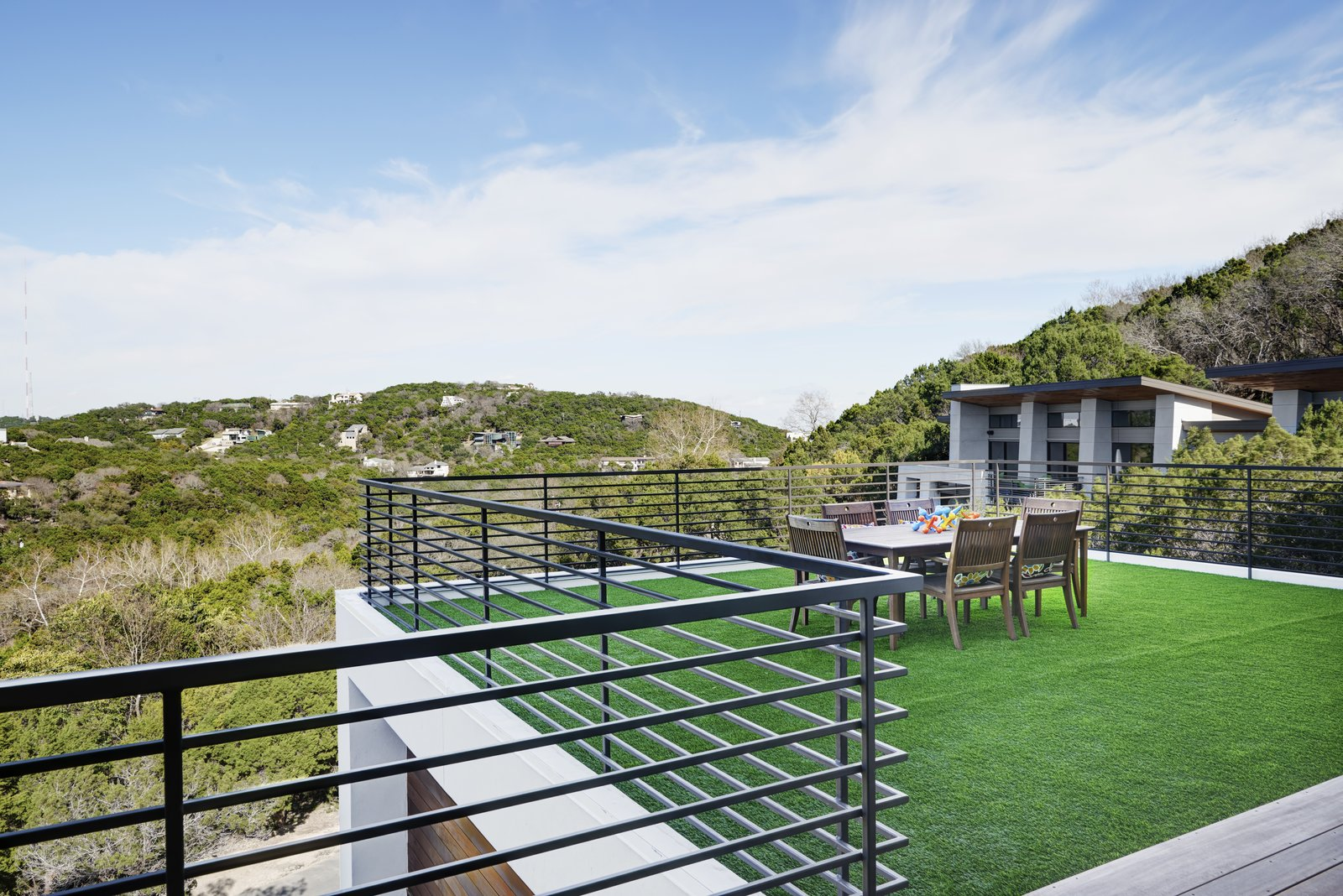 roof deck/view Tagged: Outdoor, Front Yard, Garden, Trees, Grass, Slope, Rooftop, Hardscapes, Horizontal, and Large.  Best Outdoor Slope Grass Photos from Westlake4