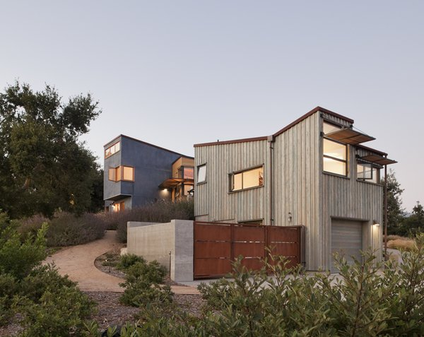 Modern home with outdoor, shrubs, front yard, and trees. Photo 2 of Santa Ynez House