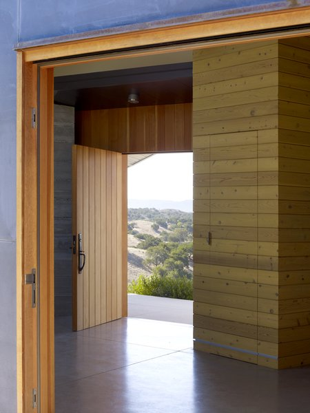 Modern home with doors. Photo 3 of Santa Ynez House