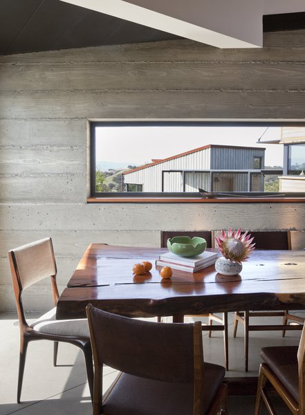 Modern home with dining room, chair, table, and concrete floor. Photo 5 of Santa Ynez House
