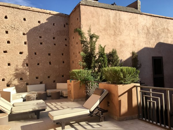 Modern home with outdoor and rooftop. http://abnb.me/EVmg/ZerWHwW7KD Photo 12 of ROYALRIAD MARRAKECH