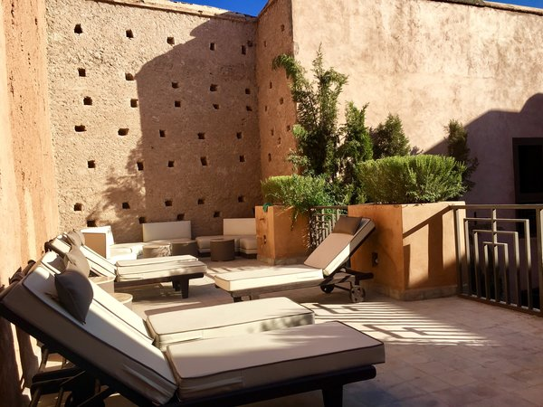 Modern home with outdoor, garden, and rooftop. http://abnb.me/EVmg/ZerWHwW7KD Photo 10 of ROYALRIAD MARRAKECH