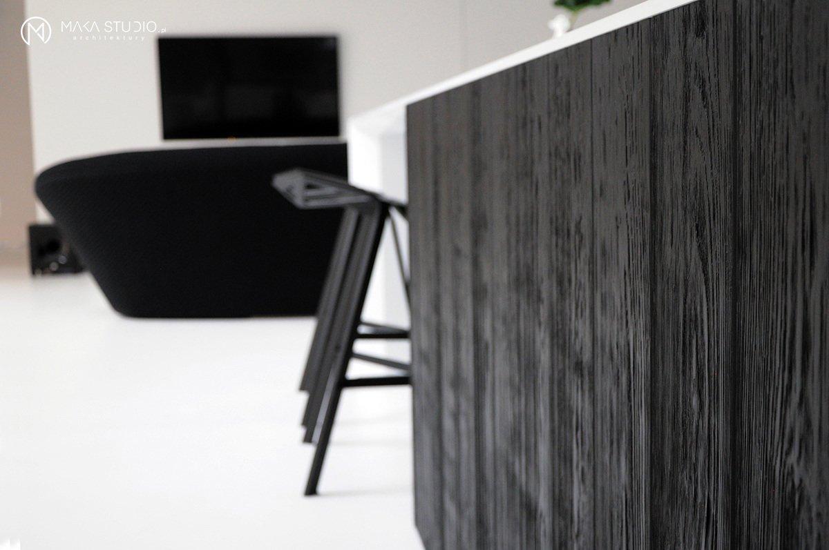 Tagged: Kitchen, Stone Counter, and Wood Cabinet.  Minimal Seaside Villa by MAKA Studio