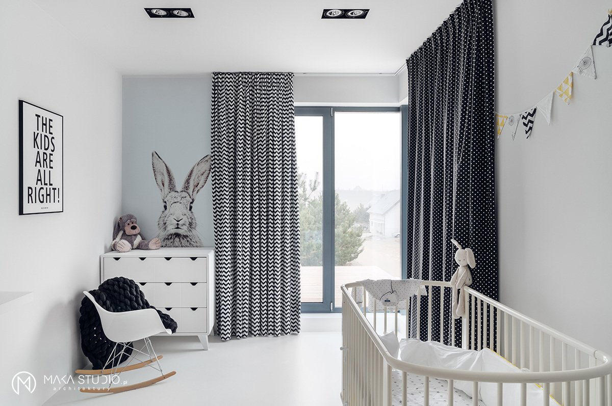 Tagged: Kids Room, Playroom, Bedroom, Bed, Dresser, Rockers, Lamps, Chair, Toddler Age, Neutral Gender, and Boy Gender.  Minimal Seaside Villa by MAKA Studio