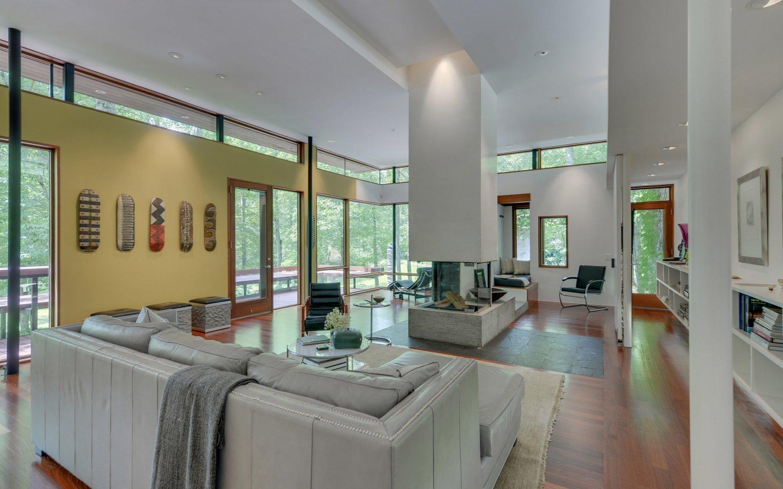 U0027Mountain Houseu0027   Living Room Tagged: Medium Hardwood Floor, Two Sided
