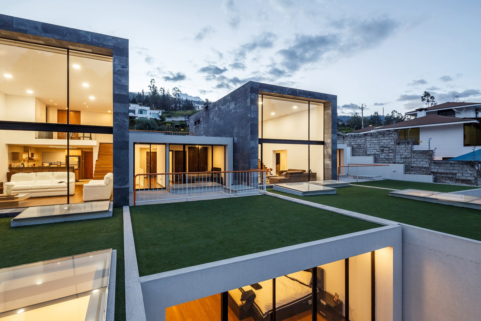 Tagged: Outdoor, Gardens, Front Yard, and Rooftop.  FF Houses by TEC Taller EC