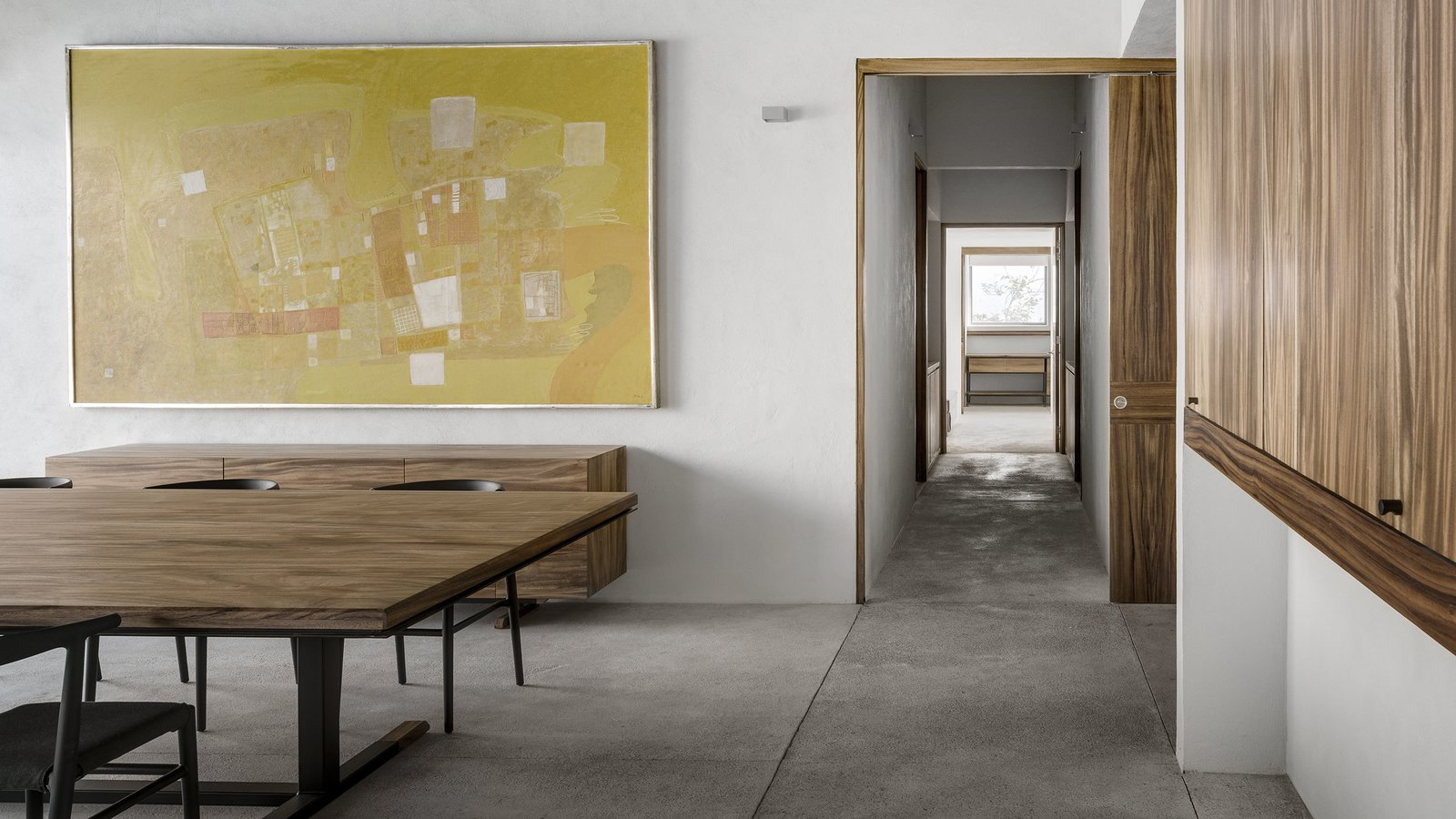 Tagged: Dining Room, Table, Chair, Storage, and Concrete Floor.  Casa Paraíso by DCPP by LCMX