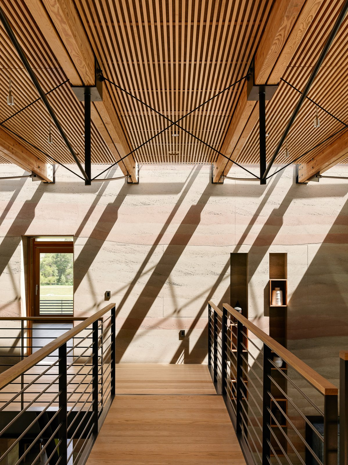 Tagged: Staircase, Wood Tread, Wood Railing, and Metal Railing.  Spring Ranch by Feldman Architecture