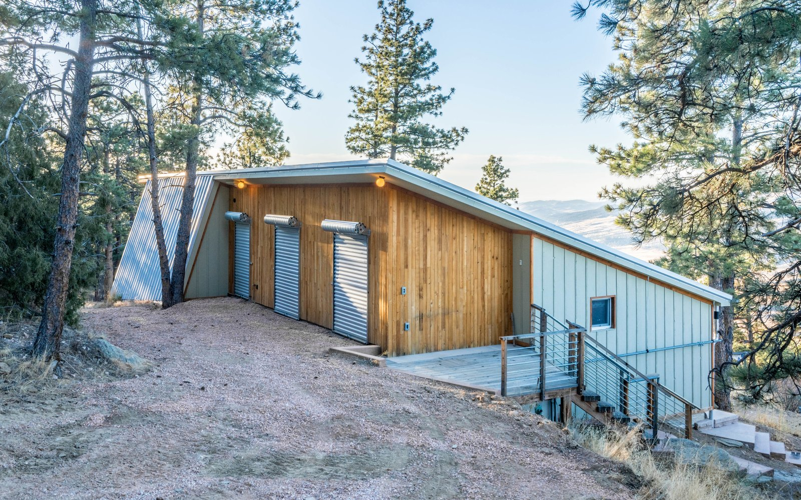 Tagged: Outdoor, Back Yard, Woodland, Slope, and Trees.  MARTaK Passive House by Baosol Design