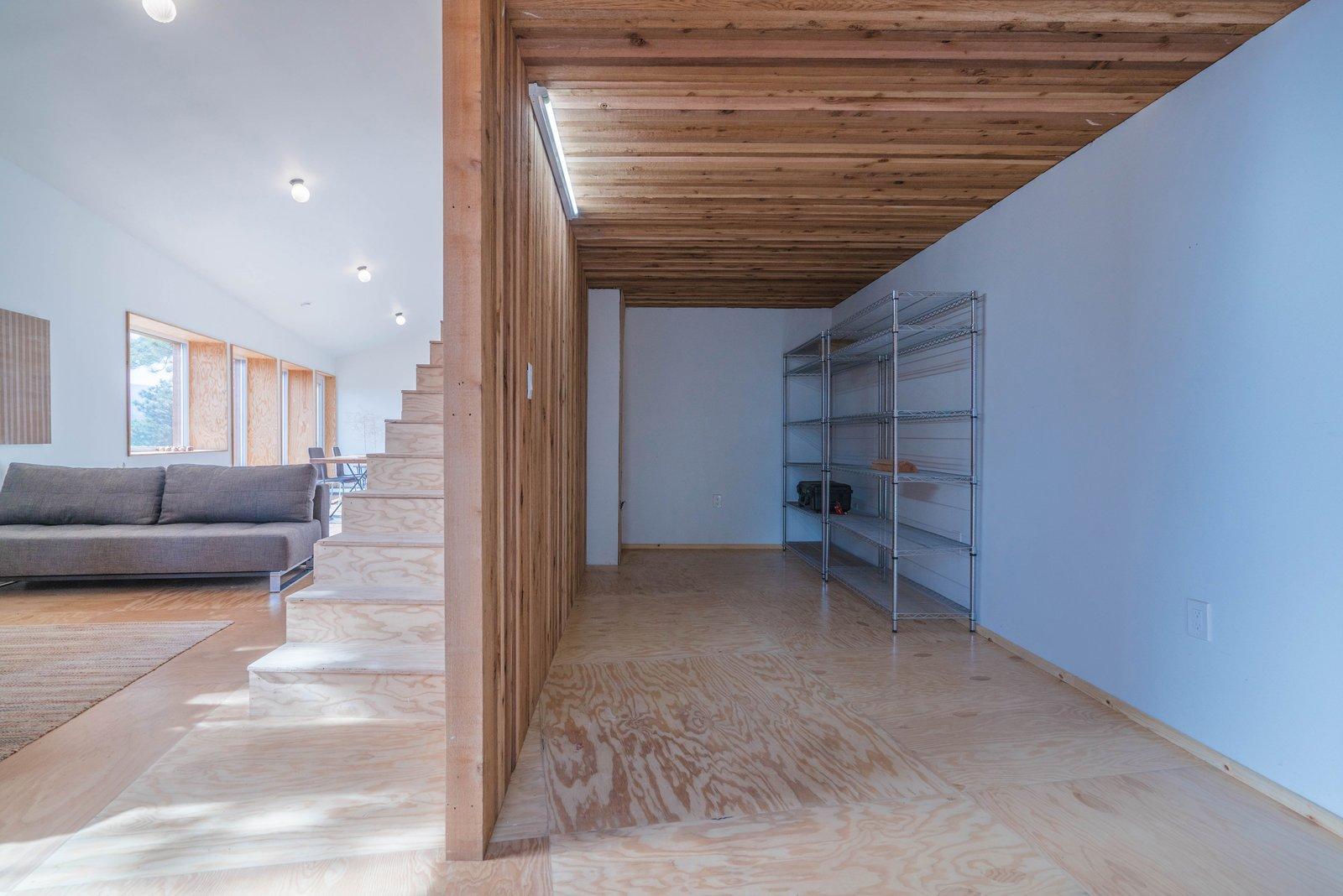 Tagged: Study, Light Hardwood Floor, Storage Room, and Shelves Storage Type.  MARTaK Passive House by Baosol Design