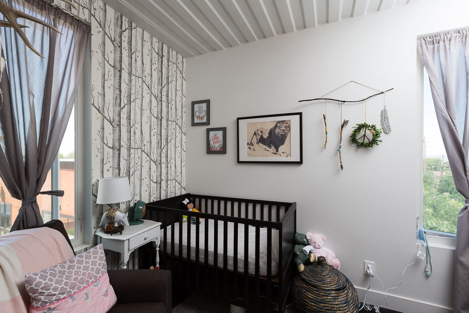 Tagged: Kids Room, Bed, Toddler Age, Bedroom, and Neutral Gender.  The Container house by regan foster