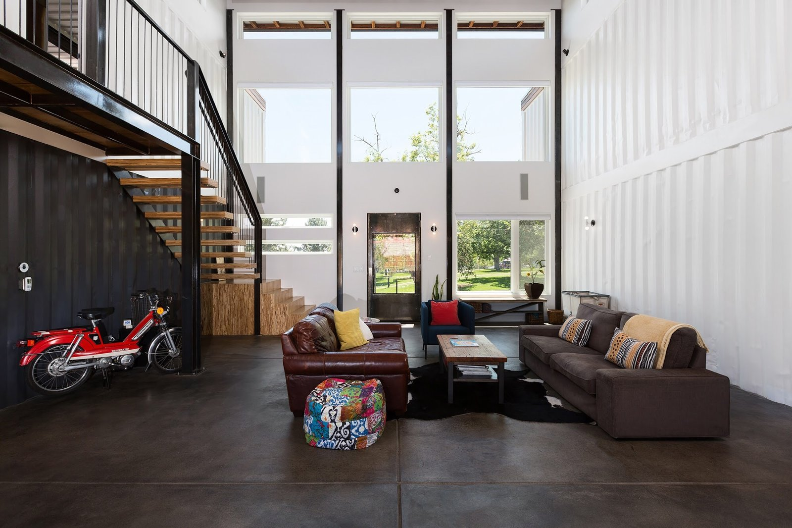 Chris Boylen Photography Tagged: Living Room, Bench, Chair, Sofa, and End Tables.  The Container house by regan foster