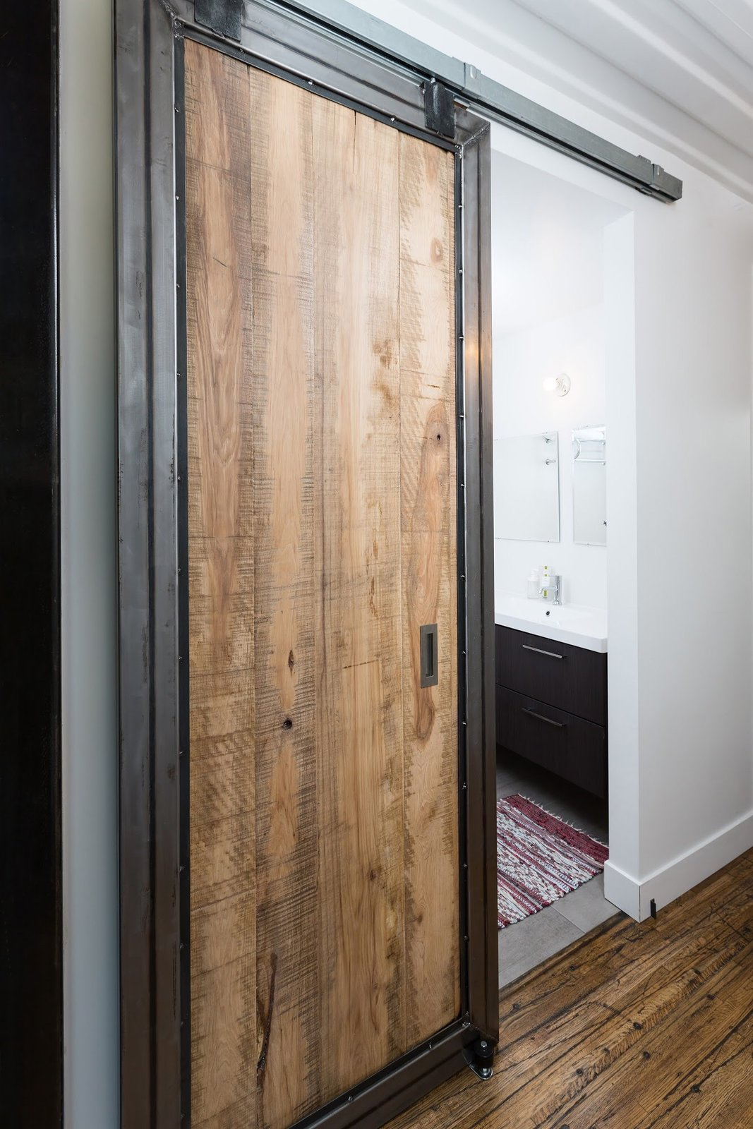 Tagged: Doors, Sliding Door Type, Metal, Interior, and Wood.  The Container house by regan foster