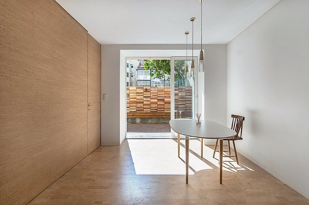 Tagged: Living Room, Chair, Table Lighting, and Cork Floor.  Rua Maria Loft by KEMA studio