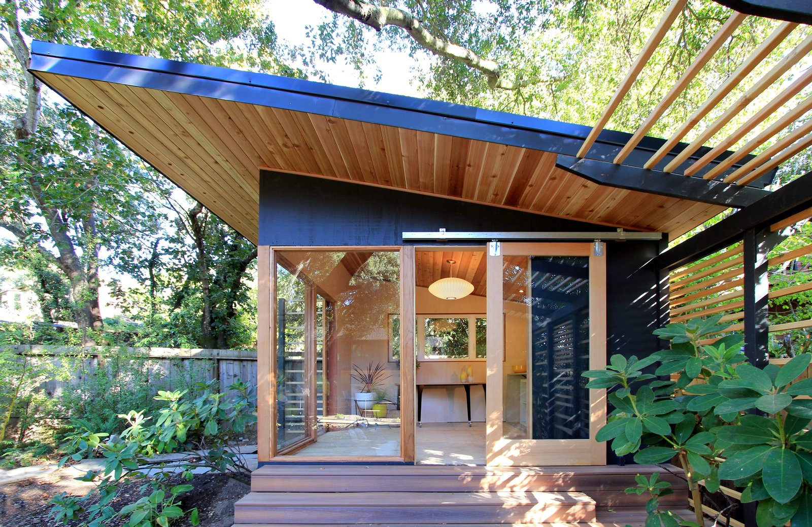 The Shudio Exterior.  Tagged: Horizontal Fences, Wall, Console Tables, End Tables, Accent Lighting, Ceiling Lighting, Living Space, and Outdoor.  The Shudio by Melissa Hanley