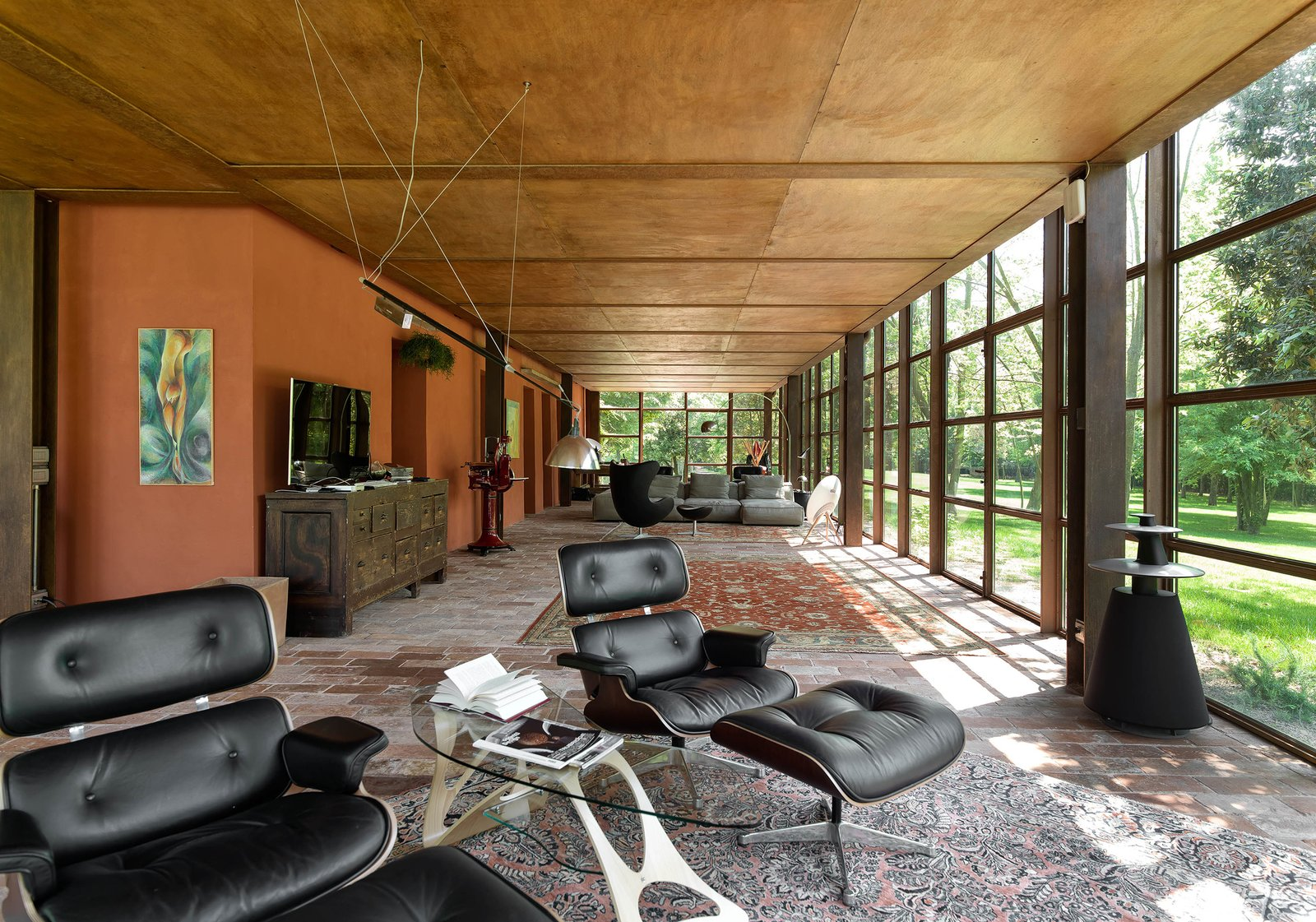 Tagged: Living Room, Sofa, Ottomans, and Ceiling Lighting.  Country House by zanon architetti associati