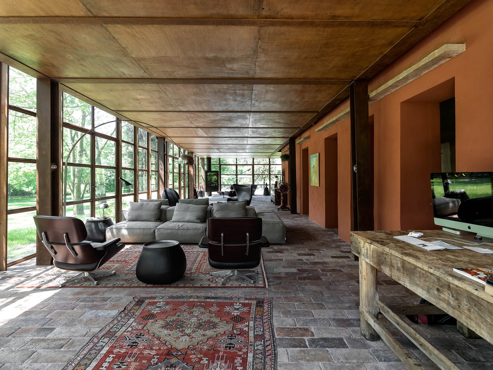 Tagged: Living Room, Ottomans, Sofa, Coffee Tables, and Floor Lighting.  Country House by zanon architetti associati