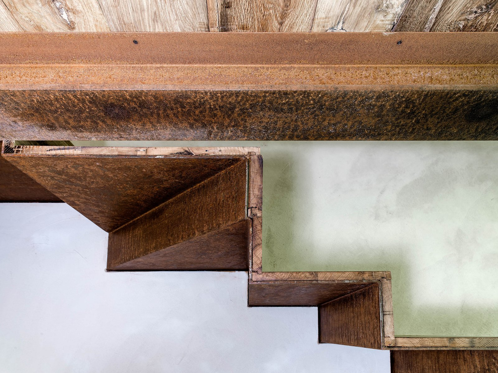 Tagged: Staircase, Wood Tread, and Metal Tread.  Country House by zanon architetti associati