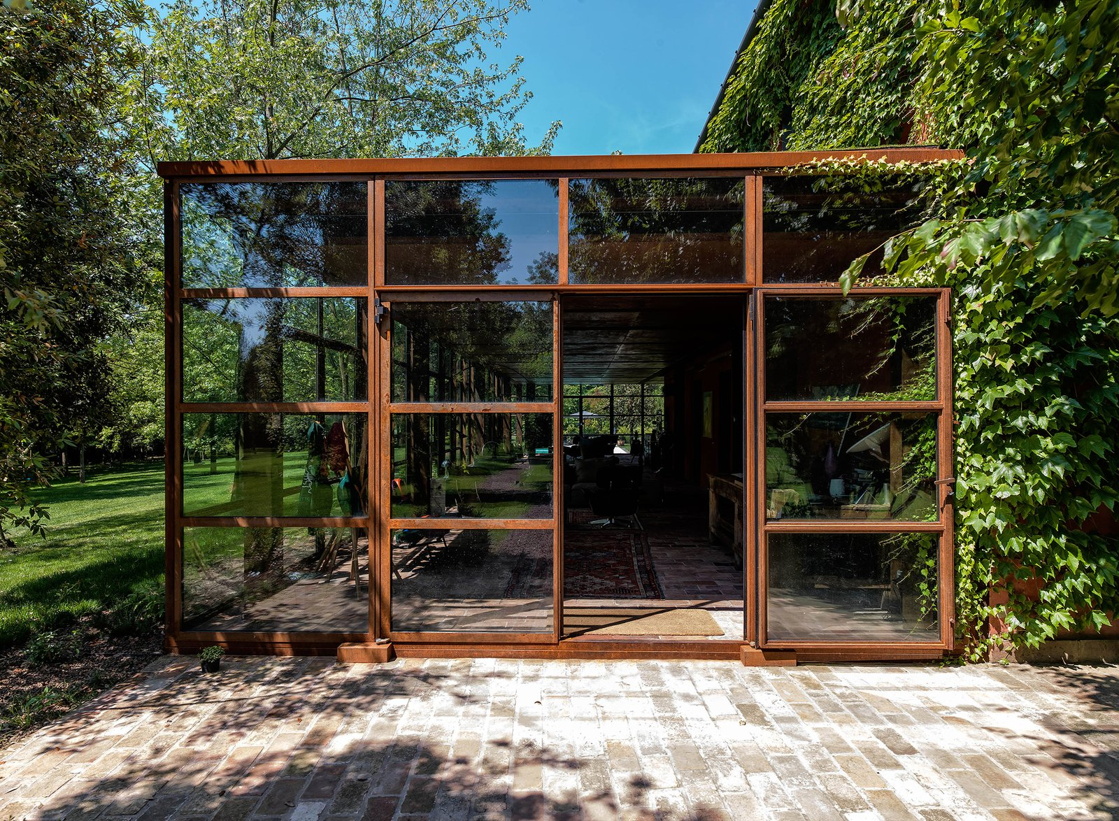 Tagged: Outdoor, Garden, Gardens, Walkways, Metal Patio, Porch, Deck, and Large Patio, Porch, Deck.  Country House by zanon architetti associati