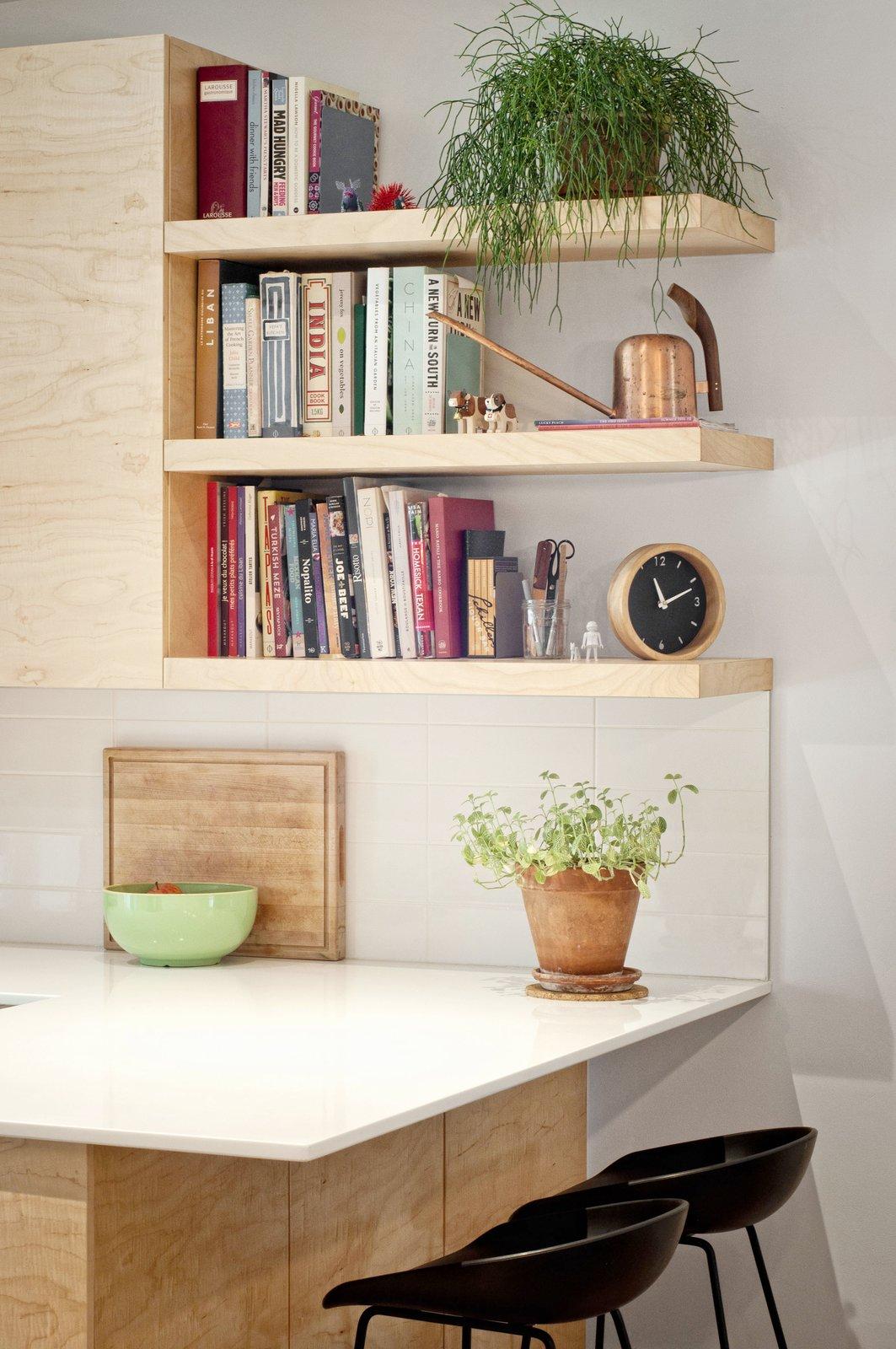Tagged: Kitchen, Engineered Quartz Counter, Wood Cabinet, and Ceramic Tile Backsplashe.  Fabre Residence by Jonathan Dorthe